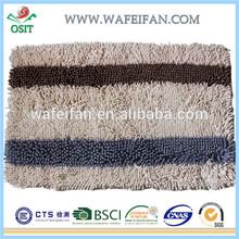 microfiber chenille stripe designlatex backed microfiber area rug anti slip back