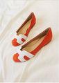 nouveau designer 2015 orange mesdames ballerines chaussures mode femme chaussures de marche suédine petites chaussures pour femmes