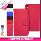 MULTI COLORED CARD SLOT WALLET PHONE CASE COVER FOR HUAWEI ASCEND P6