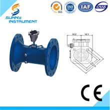 SUN-200V series ultrasonic waste water flow meter/digital water flow meter/infrared ray water meter SGS CE approved