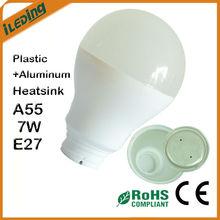 Competitive E27 7W A55 Plastic Aluminum LED Heatsink