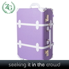 Beautiful Purple Women Small PU Suitcase Rolling Trolley case