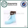La lluvia de plástico cubiertas del zapato de lluvia de goma de protección zapatos botas calientes shoes|b- 817