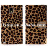 Leopard Leather Wallet Magnetic Flip Cover Case For samsung note3