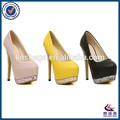 الترتر حزب منصة السيدات الأحذية عالية الكعب الوردي