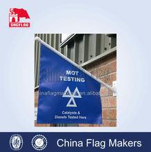 high quality wall plastic flag pole, wall mounted flag, pvc wall flag