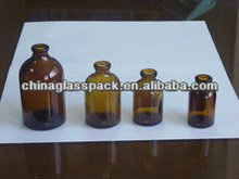 20ml,30ml,50ml,100ml Amber Moulded Glass Bottle use for Medicine Pill