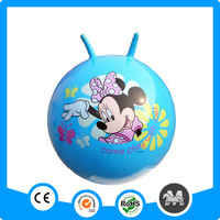 Gym inflatable bouncy ball with handle for kids