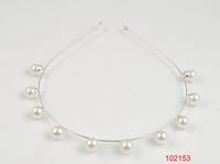 2014 new style /shiny rhodium/metal headband/ten pearls are inlayed