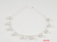 2014 new style /shiny rhodium/metal headband/ten pearls are inlayed