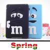7colours Cute MM rainbow bean back case for ipad mini 1 2 silicon cover case for ipad mini 1/2