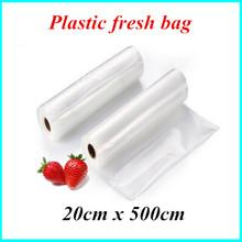20cm*500cm 1 rolls of vacuum storage bag plastic wrap fresh piece sealer transparent for selling goods packaging
