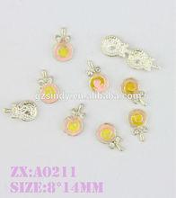 A venda quente Lollipop 3D prego jóia etiqueta do prego nail art design