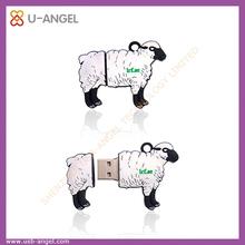 pvc sheep shaped usb stick 2gb sheep usb flash drive 2gb animal shape usb flash drive