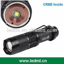 CREE XM-L T6 7w 300lm mini cree led flashlight