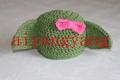 Nuevo 2014 venta caliente infantil de tejer a mano del bebé con estilo niña gorrita sombreros de algodón o material acrílico de invierno debe- tener artículo