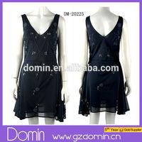 Ladies designed Elegant Tunic Shift Embellished Chiffon Dress