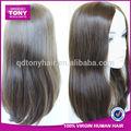 China hersteller großhandel billig 100% Virgin schwarzen frauen brazilian menschlichen haares spitze vorne perücken mit pony
