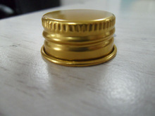 gold aluminum mason jar lid with PE liner for plastic sealable jar,crown bottle cap