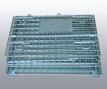 Folding steel warehouse storage cage