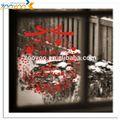 2014 zooyoo el modelo xams festival de decoración de la ventana pegatina 3d mural de la pared