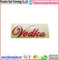 fashional personalizados baratos de plástico de vino tinto de la etiqueta
