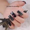 Cool black dot nail art /printer
