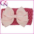 lavoro a maglia elastico con tre bowknots archi capelli boutique fascia per bambina