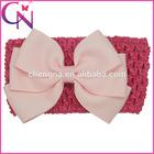 Knitting Elastic Band With Three Bowknots Hair Bows Boutique Headband For Girl Baby
