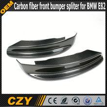 Carbon fiber front bumper splitter/ lip for BMW E82 2012+