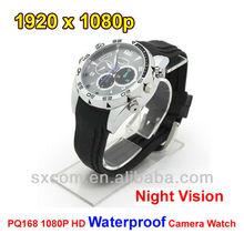 Multifunctional Waterproof pinhole camera/ hidden watch cameras, ir 1080p watch camera,CCTV digital video sport camera