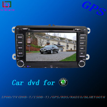 2did touch screen car dvd navigation for skoda fabia with canbus,ipod,bt,tv,rear camera
