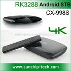 RK3288 Quad Core Android 4.4 4K Smart TV Box/Set top Box/Mini PC 2G+8G/16G with Bluetooth 4.0/WIFI 2.4GHz/5.0GHz XBMC CX-998S