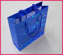 elegant blue large paper shopping bags