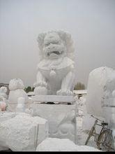 2014 PFM hot sale natural marble made hand carved lion sculpture rock