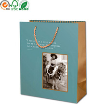 Customized size apparel packaging carrier paper bag