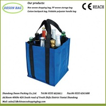 recyclable promotional non woven bag with dual reinforced carrying handle