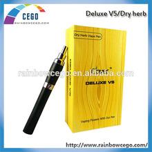 Original most popular E cigarette Deluxe V5 cloutank dry herb vaporizer pen wax smoking pen