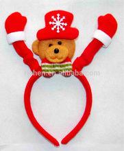 Christmas head hoop with bear horn