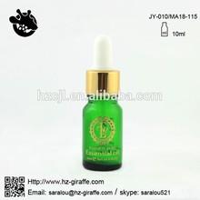 GDM18-010 10ml european dropper glass bottle with shining gold cap
