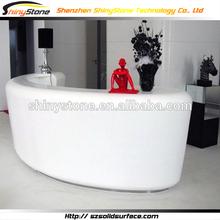Embowed matt finish design solid surface/artificial marble reception desk acrylic