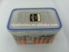 vacuum plastic airtight container with new design lock