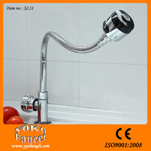 360 degree rotatable flexible chrome plated water faucet key