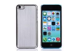 Brushed Aluminum Chrome Hard Case For iphone 5 5S/4 4S/5C