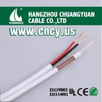 gold supplier Low db Loss rg59 siamese cable for camera system satellite system