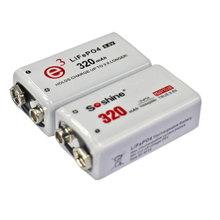 Soshine e3 9V Rechargeable Battery 320mAh 9.6V LiFePO4 9V rechargeable bttery