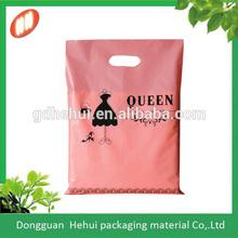 Plastic branded shopping carrier bag for garment