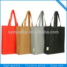 Luxury Black non woven shopping bag