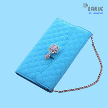 pu leather cell phone belt bag with pendant