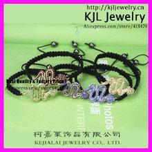 GZKJL-BL0407 Macrame Mixed colors Shamballa Snake Style Friendship Bracelet Wholesale